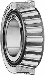 Single row with flange tapered roller bearings
